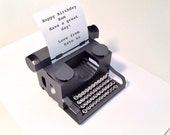 personalised typewriter popup  card with keys