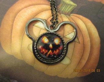 Pumpkin Face Mouse Necklace