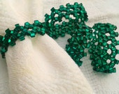 Emerald Green Napkin Rings - set of four
