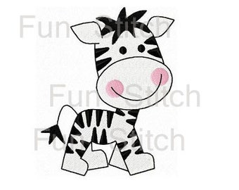 zebra machine embroidery design instant download