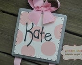 Bow Holder - SIMPLICITY Design - Medium -  Handpainted and Personalized HairBow Holder