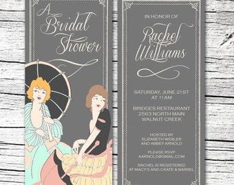 Ladies Parasol Bridal Shower Invitation