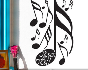 Wall Stickers - Music Wall Decals for Rock and Roll Decor with Music Notes