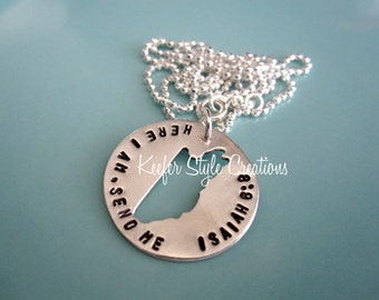 Belize Hand Stamped Cut out necklace