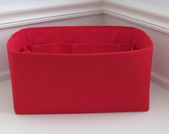 Fits Neverfull GM (14.5 x 7 x 7) ..Purse Insert ORGANIZER Purse Shaper . . Red.. .. Strong and Durable