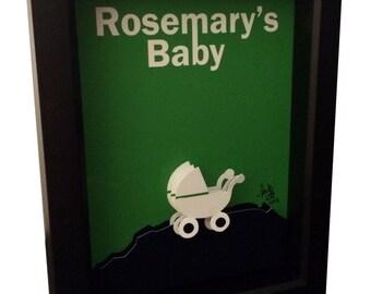 Rosemary's Baby Movie Poster 3D Art Horror Artwork