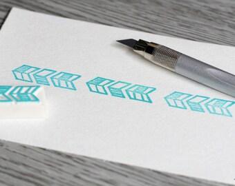 chevron stamp, arrow stamp, chevron rubber stamp, herringbone stamp, border stamp, gift tag elements stamp, diy album project stamps