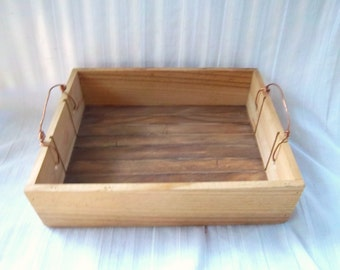 Vintage Slat Repurpose/Upcycle Salvage Indoor/Outdoor Serving/Display Tray