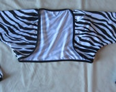 BOLERO - Cycling Bolero / Shrug- Black and White Zebra Print