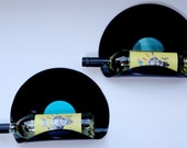 Upcycled Vinyl Record Wine Rack/Wall Organizer - Set of 2