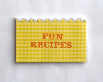 "Handmade ""Fun Recipes"" Blank Recipe Book"