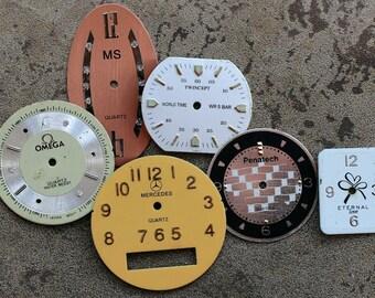 Wrist Watch Faces -- set of 6 -- D12