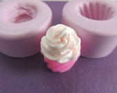 Doll Size Cupcake Mold Silicone Cupcake Charm Mold Kawaii Silicone Mold Miniature Food Mould Fake Frosting