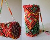 Antique Hand Beaded Rattan Indonesian Tribal Timor Medicine Basket Bag Pouch