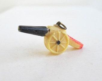 Cannon Celluloid Charm / Pendant - Vintage