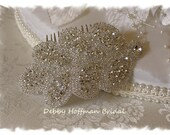 Bridal Hair Comb, Rhinestone Wedding Headband, Jeweled Bridal Headpiece, Crystal Wedding Hair Piece, Beaded Bridesmaid Headband, No. 3040HC