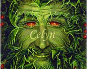 "Green Man Yule: ""The Holly King""  High Quality Print"