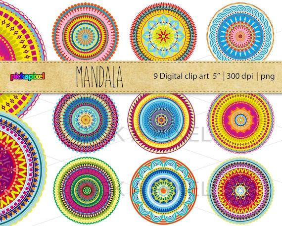 Mandala - digital clip art - Personal and Commercial Use