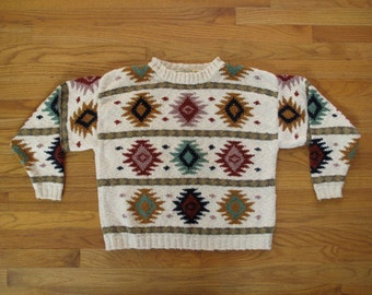 womens vintage LL Bean southwestern sweater