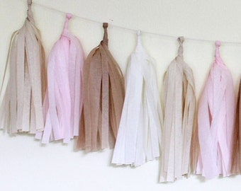 Tissue Tassel Garland Kit - Blushing