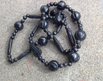Mexican Black Bead Necklace