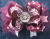 2610 Texas A&M Aggie double boutique hair bow