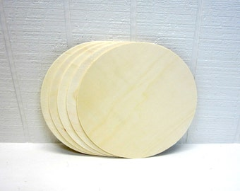 Wooden Circles 8 Inch Unfinished For Signs And Craft Projects Lot Of 5