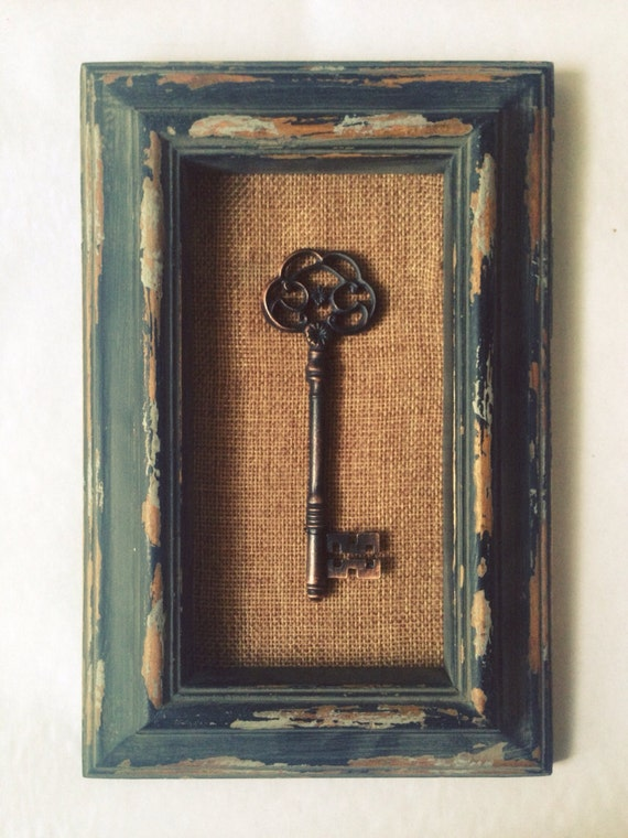 key wall decor home office wood keys distressed shabby