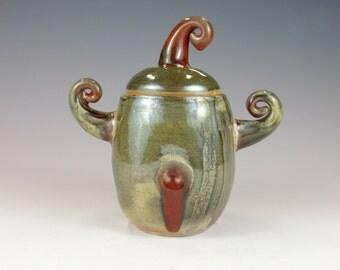 Decorative Ceramic Jar.  Chubby fun cookie jar.