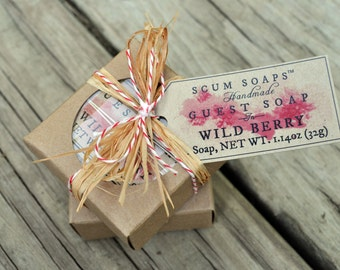 Wild Berry Guest Soap Gift - Burlap,  Shabby Chic, Holiday