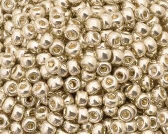 Seed Beads-11/0 Round-1051 Galvanized Silver-Miyuki-16 Grams