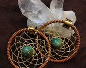 Choose Your Bead Dreamcatcher Hoops - Earrings for Stretched Lobes - Gauges