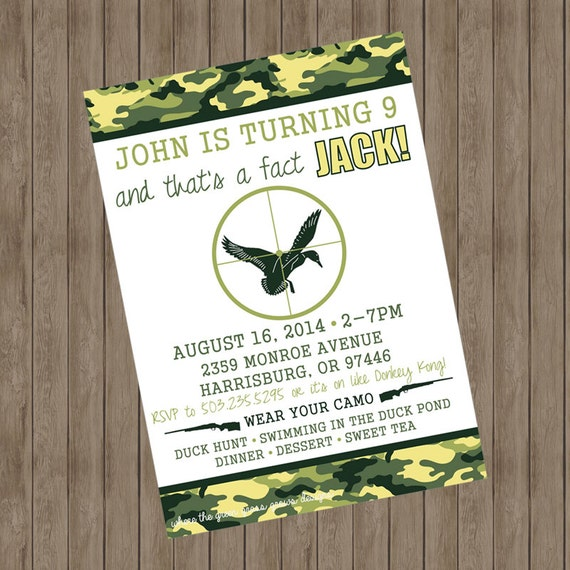 Duck Dynasty Invitation Printable