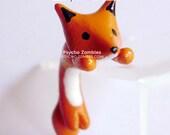 Fox stud earring fake plug