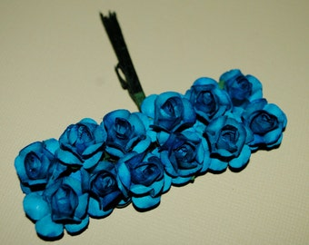 24-- Turquoise paper flowers