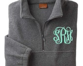 Monogrammed/Personalized Grey Fleece Pullover