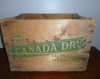 Vintage  Wood  Pop Crate Canada Dry Ginger Ale