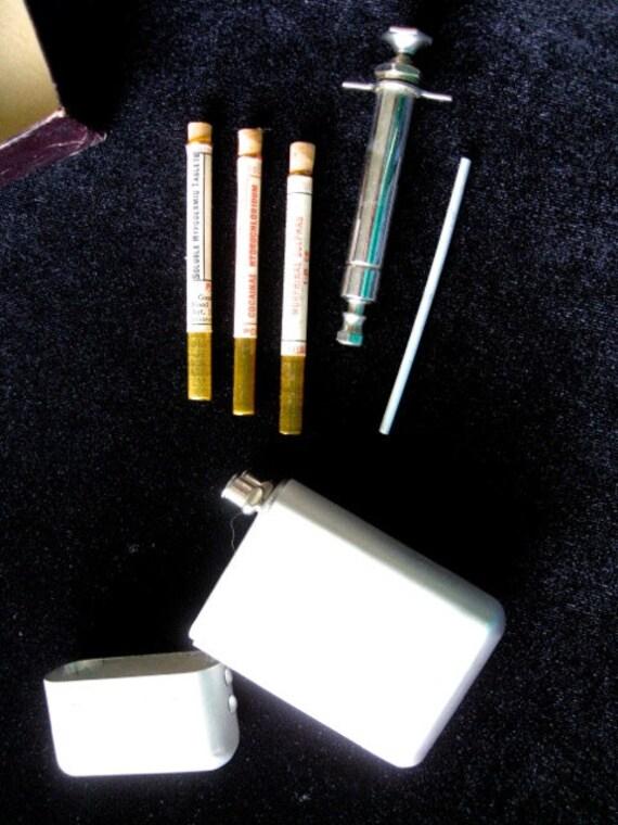 vintage syringe medical kit medical cocaine morphine world war