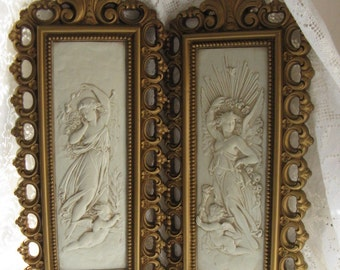 cherub wall plaques goddess wall plaques hollywood regency homco dart home interiors wall plaques romantic 1976