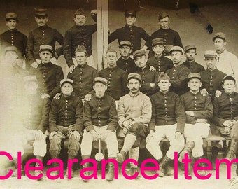 French Antique Photo Postcard - French Soldiers Group Photo (Clearance Item)