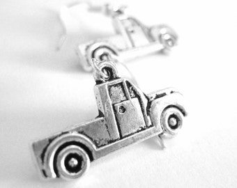 I Love My Truck Diver Wife - Cowgirl Earrings - Sterling Silver Truck Jewelry 210