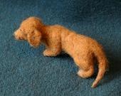 Needle Felted Dachshund Shoulder Pet