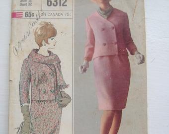 Simplicity 6312, Misses' Designer Suit Pattern, Size 12, Bust 32