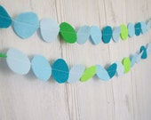 felt circles garland Blue and green  party decoration holiday decoration nursery decoration ,perfect for baby room or kids room