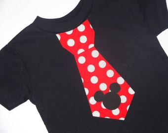 Iron On Mickey Mouse Inspired Tie Applique DIY