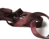 "Mimi Brown Seam Binding Ribbon - Vintage Original Hug Snug - 3 / 6 / 12 Yard - Packaging - Gift Wrap - 1/2"" Trim - Craft Supply - Dark Brown"