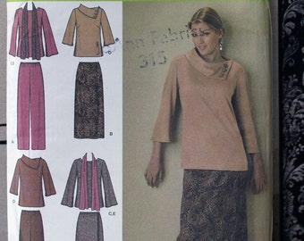 Adult Size 20 22 24 26 28 Simplicity 4886 Top Pants Skirt  Seperates Wardrobe Women MIsses Uncut Sew Sewing Pattern