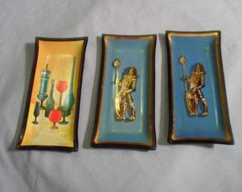 3 Small Glass Trays