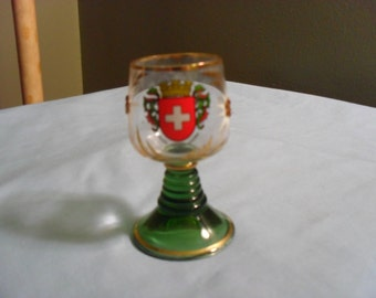 Small Swiss Blown Drinking Glass