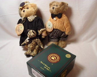 Bailey and Matthew H Bear Set with Matching Resin Figurines 9228